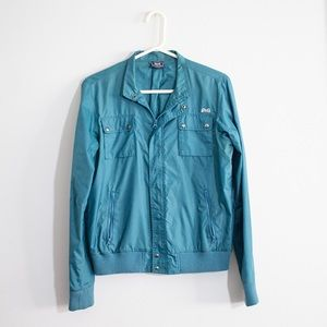 Le Tigre bomber jacket teal size L waterproof